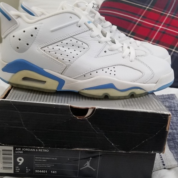great quality promo codes best price Air Jordan 6 Retro low University Blue sz. 9